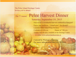 Heritage Centre Harvest Dinner