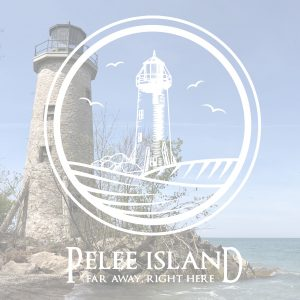 lighthouse with Pelee logo
